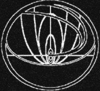 Il simbolo dell'unità dell'esercito cui appartiene John Titor. Le curve fanno evidentemente riferimento alla distorsione gravitazionale provocata dalla macchina del tempo.